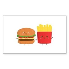 Kawaii Burger and Fries are best pals Decal