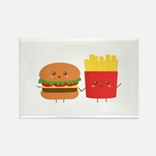 Kawaii Burger and Fries are best pals Rectangle Ma