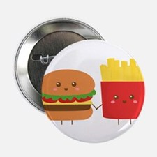 "Kawaii Burger and Fries are best pals 2.25"" Button"