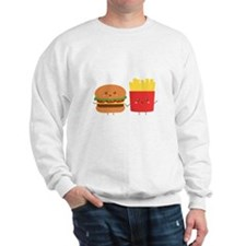 Kawaii Burger and Fries are best pals Sweatshirt