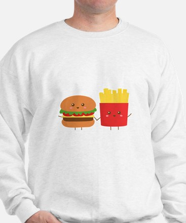 Kawaii Burger and Fries are best pals Sweatshirt
