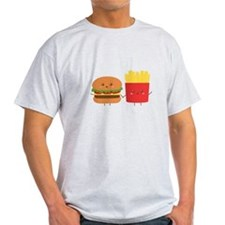 Kawaii Burger and Fries are best pals T-Shirt
