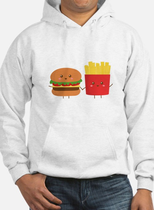 Kawaii Burger and Fries are best pals Hoodie