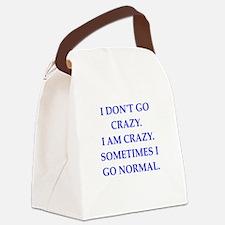 CRAZY Canvas Lunch Bag