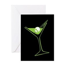 Green Poison Martini Greeting Card