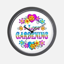 I Love Gardening Wall Clock