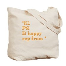 K1P2 Entrelac Pattern Tote Bag