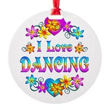 I Love Dancing Ornament