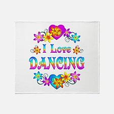 I Love Dancing Throw Blanket