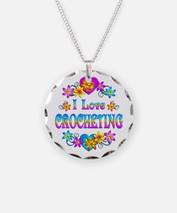 I Love Crocheting Necklace