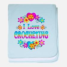 I Love Crocheting baby blanket
