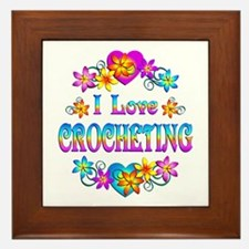 I Love Crocheting Framed Tile