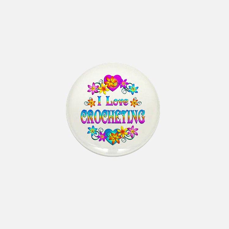 I Love Crocheting Mini Button