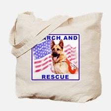 German shepherd Search Dog Tote Bag