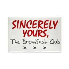 'Sincerely Yours' Rectangle Magnet