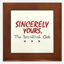 'Sincerely Yours' Framed Tile