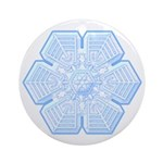 Flurry Snowflake XVI Ornament (Round)