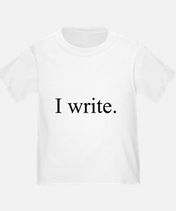 I write. black T-Shirt