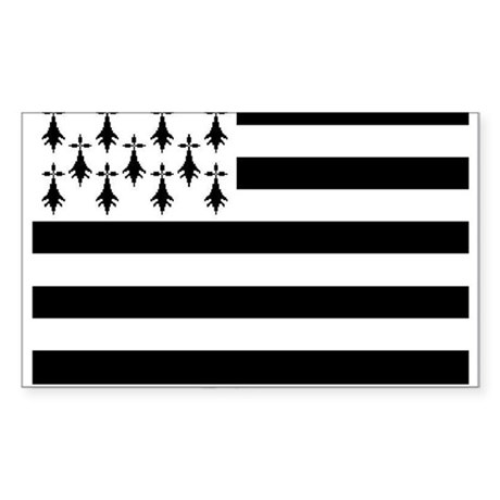 Brittany Flag Rectangle Sticker