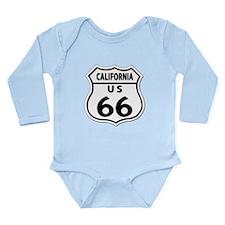 U.S. ROUTE 66 - CA Long Sleeve Infant Bodysuit