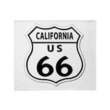 U.S. ROUTE 66 - CA Throw Blanket