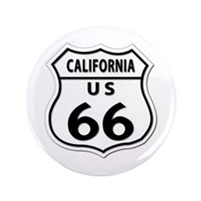 "U.S. ROUTE 66 - CA 3.5"" Button"