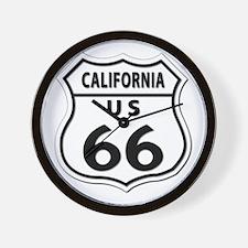 U.S. ROUTE 66 - CA Wall Clock