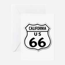 U.S. ROUTE 66 - CA Greeting Cards (Pk of 10)