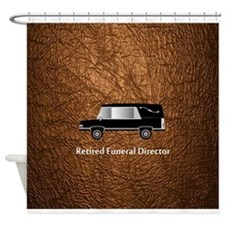 retired funeral director wallet 3 Shower Curtain