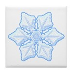 Flurry Snowflake XV Tile Coaster