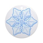 Flurry Snowflake XV Ornament (Round)