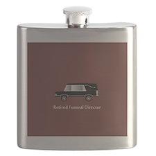 retired funeral director wallet 2 Flask