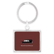 retired funeral director wallet 2 Keychains