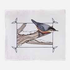 Nuthatch Throw Blanket