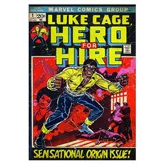 Luke Cage, Hero For Hire (Sensational Origin Issue Framed Print
