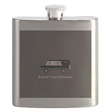 retired funeral director wallet 1 Flask