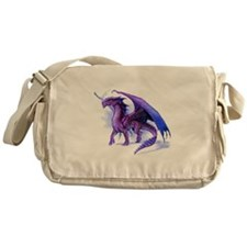 Purple Dragon Messenger Bag
