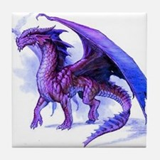 Purple Dragon Tile Coaster
