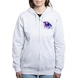 Purple dragon Zip Hoodies