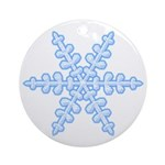 Flurry Snowflake XIV Ornament (Round)