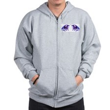 Purple Dragons Zip Hoodie