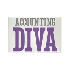 Accounting DIVA Rectangle Magnet