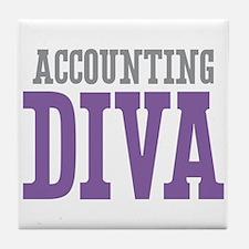 Accounting DIVA Tile Coaster