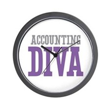Accounting DIVA Wall Clock