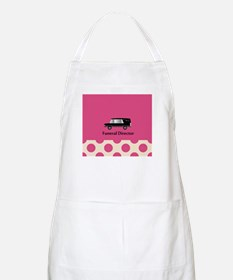 funeral director pink Apron
