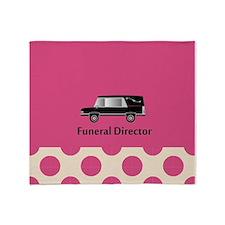 funeral director pink Throw Blanket