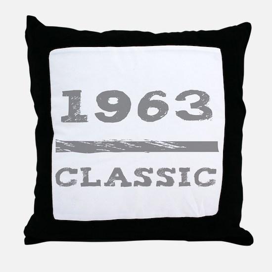1963 Classic Grunge Throw Pillow