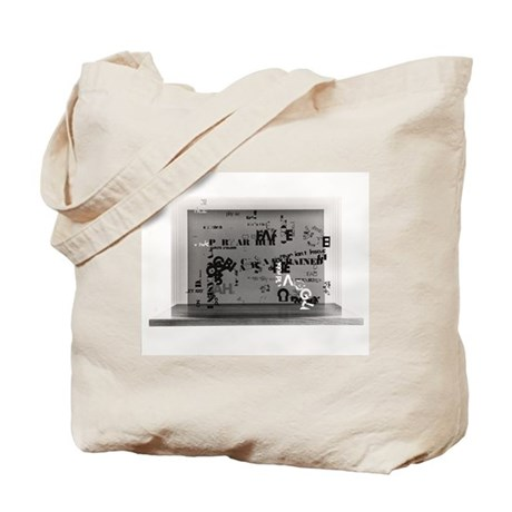 """John Cage """"Not Wanting...Marcel"""" Tote Bag"""