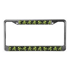 Cute Green Skulls License Plate Frame