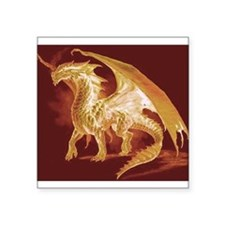 """Gold Dragon Square Sticker 3"""" x 3"""""""